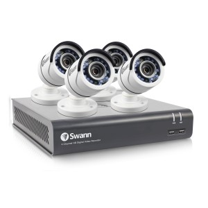 SWDVK-445754 Swann 4 Channel Security System: 1080p Full HD DVR-4575 with 1TB HDD & 4 x 1080p PRO-T853 Bullet Cameras -