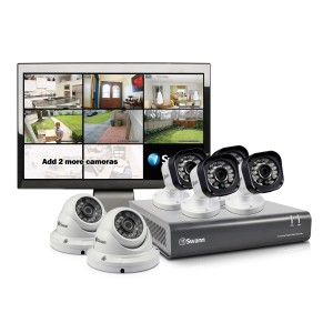 "SWDVK-815806M DVR8-1580 8 Channel 720p HD Digital Video Recorder, 4 x PRO-T835 & 2 x PRO-T836 Cameras & 15"" LCD Monitor -"