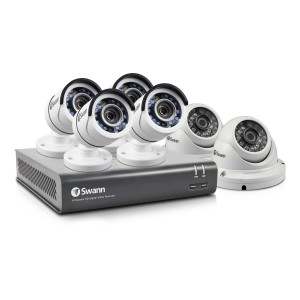 Swann 8 Channel Security System: 1080p Full HD DVR-4575 with 2TB HDD & 6 x 1080p Full HD Cameras (Plain Box Packaging)