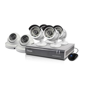 SWDVK-84606D2 DVR8-4600 - 8 Channel 1080p Digital Video Recorder with 4 x PRO-A855 Cameras & 2 x PRO-A856 Cameras -