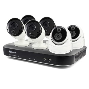 SWDVK-849804B2D 6 Camera 8 Channel 5MP Super HD DVR Security System 2TB HDD, Heat & Motion Sensing + Night Vision -