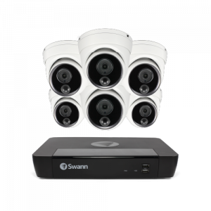SWNVK-875806D 6 Camera 8 Channel 5MP Super HD NVR Security System -