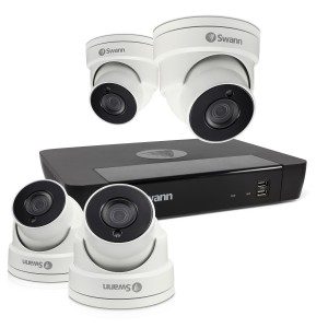 Swann 8 Channel Security System: 5MP Super HD NVR-7450 with 2TB HDD & 4 x 5MP NHD-856 Dome Cameras