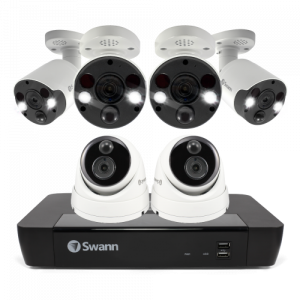 SWNVK-886802D4FB 6 Camera 8 Channel 4K Ultra HD NVR Security System -