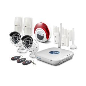 SWNVA-460AH2 NVA-460 Wi-Fi Video & Alarm Security Kit - Micro Monitoring System with 2 x 720p Day/Night Cameras, 7 x Alarm Sensors & Siren & Smartphone Connectivity -