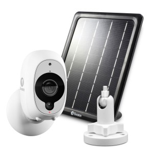 R-SOWIFI-INTCMSOLST Refurbished Swann Smart Security Camera Kit: 1080p Full HD Wireless Security Camera with Solar Panel & Outdoor Mounting Stand (Plain Box Packaging) -