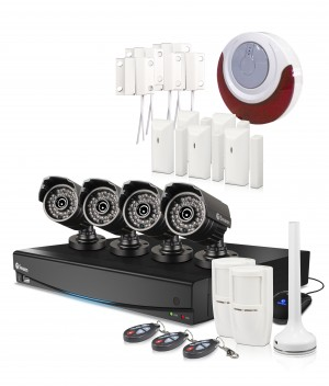 DVR8-3425 8 channel cctv security system with 4 x pro-735 security cameras view 1