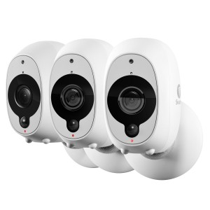 R-SOWIFI-INTCAMPK3 Refurbished Swann Smart Security Cameras, 3 Pack: 3 x 1080p Full HD Wireless Security Cameras with True Detect PIR Heat/Motion Sensor, Night Vision & Audio (Plain Box Packaging) -