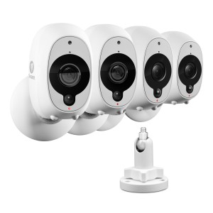 R-SOWIFI-INTCM1STP4 Refurbished Swann Smart Security Camera: 1080p Full HD Wireless Security Camera 4 Pack and Outdoor Mounting Stand (Plain Box Packaging) -