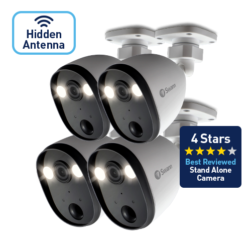 SOWIFI-SPOTCAMPK4-GL Powered Wi-Fi Spotlight Security Camera with Sensor Lighting – No DVR required! 4 Pack -