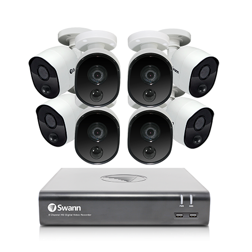 R-SWDVK-845808V 8 Camera 8 Channel 1080p Full HD DVR Security System   -