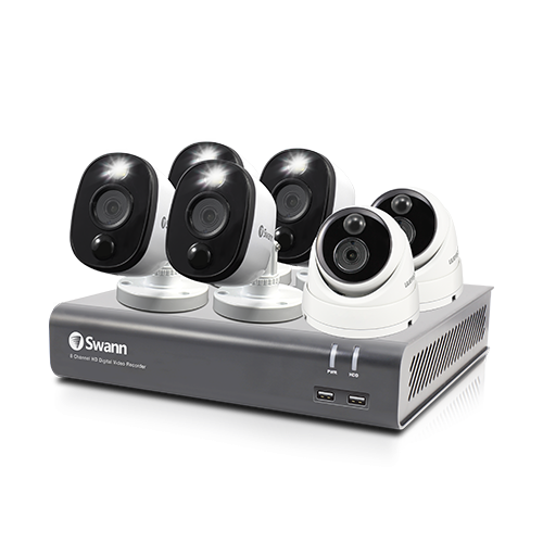 SWDVK-84580V2D4FB 6 Camera 8 Channel 1080p Full HD DVR Security System -