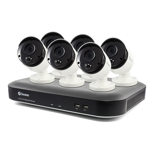 SWDVK-849806B 6 Camera 8 Channel 5MP Super HD DVR Security System -