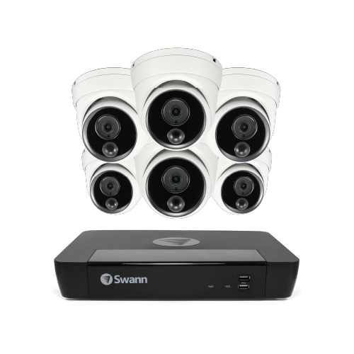 SWNVK-885806D 6 Camera 8 Channel 4K Ultra HD NVR Security System -
