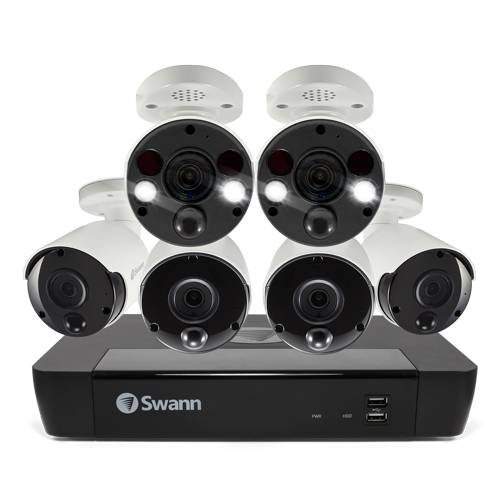 SONVK-886804B2FB 6 Camera 8 Channel 4K Ultra HD NVR Security System -