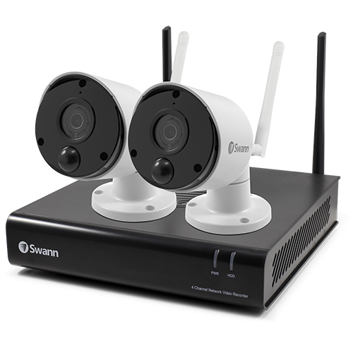 R-SWNVK-490SD2 Refurbished 2 Camera 4 Channel 1080p Wi-Fi NVR Security System   -