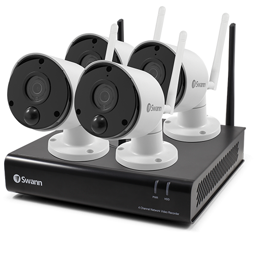 SWNVK-490SD4 4 Camera 4 Channel 1080p Wi-Fi NVR Security System -