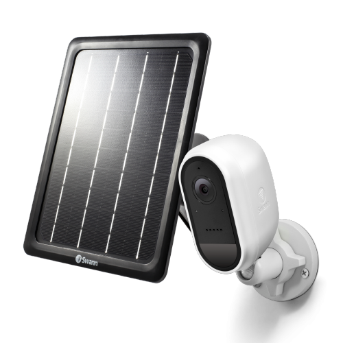 SWIFI-CAMWSOLSTD Wire-Free White 1080p Security Camera with Solar Charging Panel & Outdoor Stand -