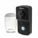 Wire-Free 720p HD Smart Video Doorbell Kit with Chime Unit