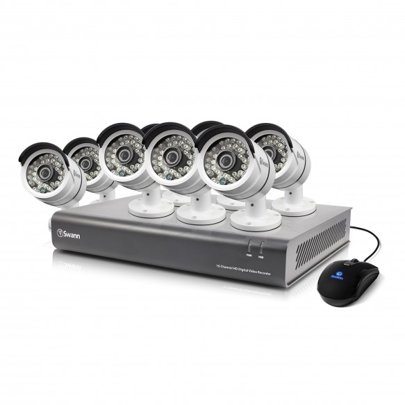 SWDVK-164608 DVR16-4600 16 Channel 1080p Digital Video Recorder & 8 x PRO-A855 Cameras -