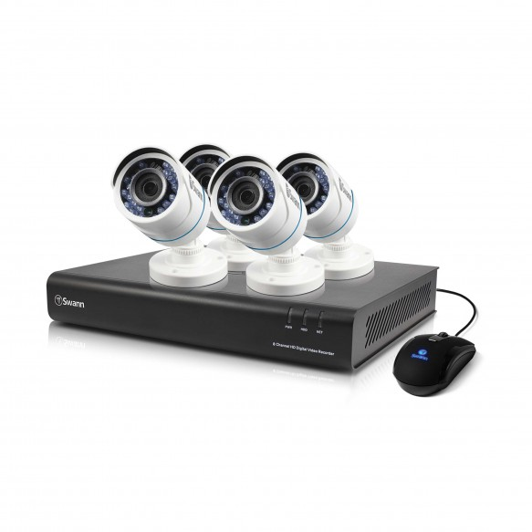 SWDVK-843504 DVR8-4350 8 Channel 720p Digital Video Recorder with 4 x PRO-T845 Cameras -