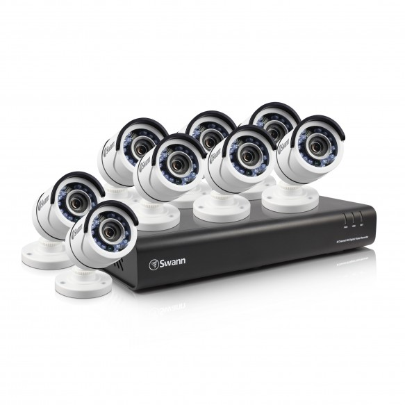 SWDVK-845008 DVR8-4500 8 Channel 1080p Digital Video Recorder with 8 x PRO-T855 Cameras -