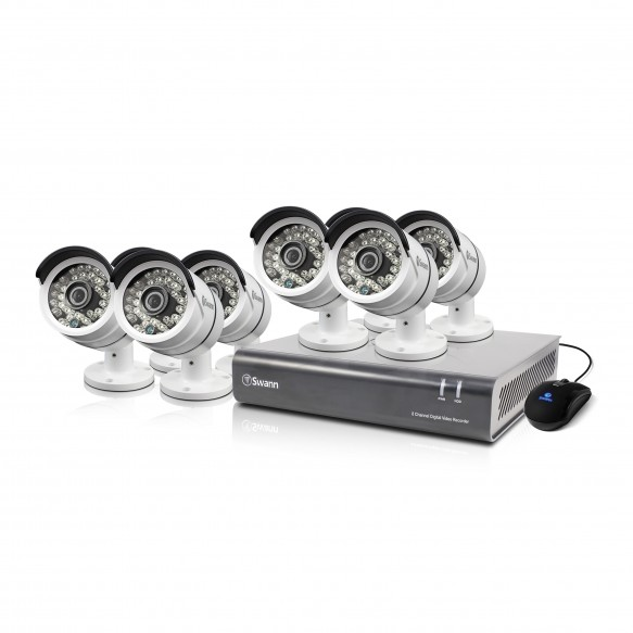 SWDVK-846008 DVR8-4600 - 8 Channel 1080p Digital Video Recorder & 8 x PRO-A855 Cameras -