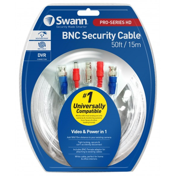 SWPRO-15MTVF HD Video & Power 50ft / 15m BNC Cable -