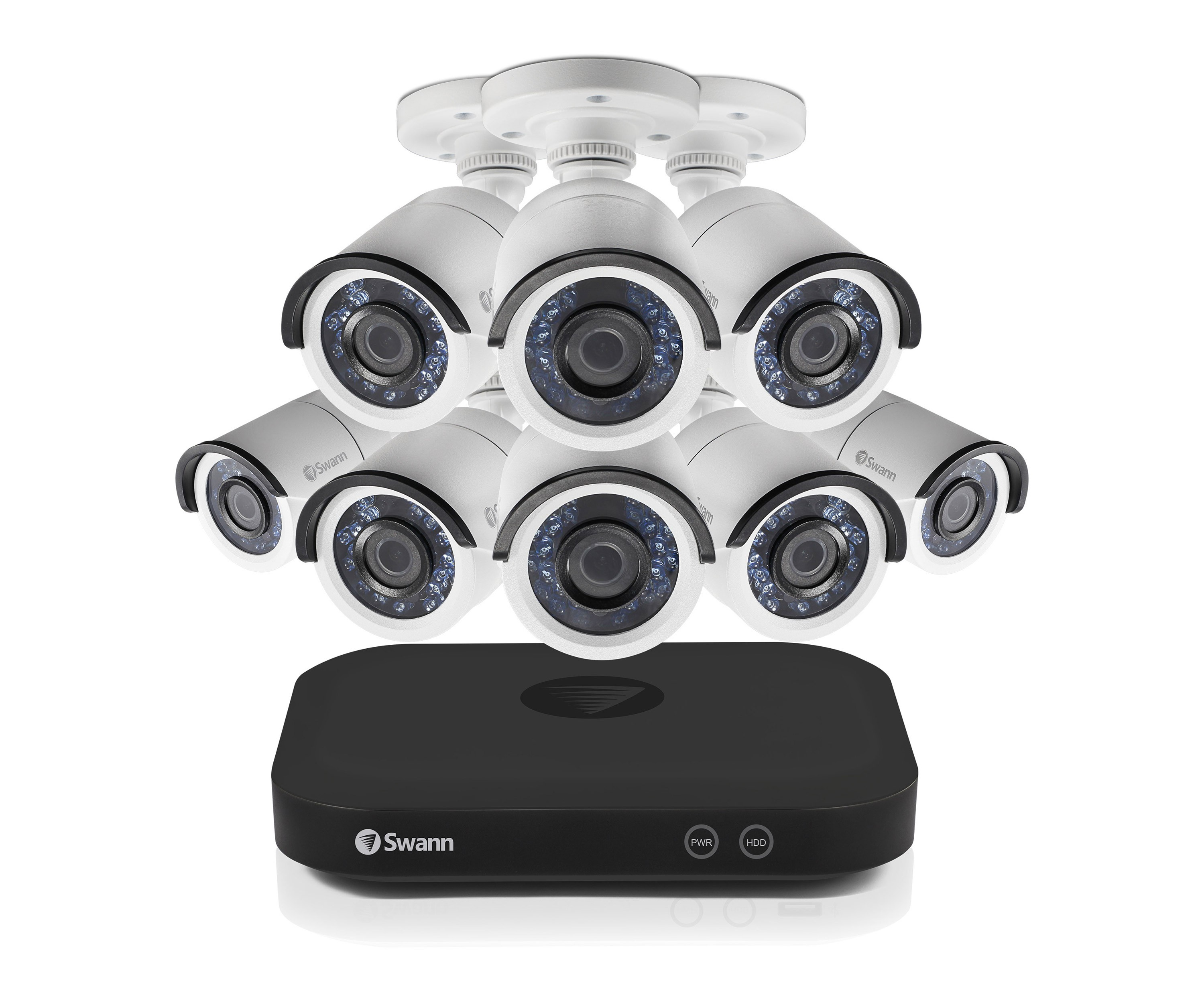 SWDVK-8HD5MP8 Swann 8 Channel Security System: 5MP Super HD DVR with 2TB HDD & 8 x 5MP Bullet Cameras -
