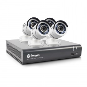 Swann 8 Channel Security System: 1080p Full HD DVR-4575 with 1TB HDD & 4 x 1080p PRO-T853 Bullet Cameras