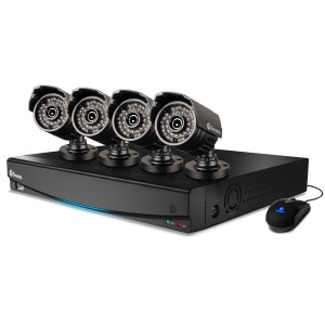 DVR4-3425 4 channel 960h cctv system with 4 x pro-735 cctv cameras view 1