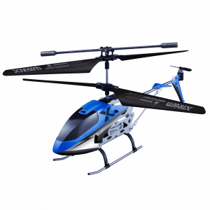 Micro lightening x-squadron blue remote control helicopter view 1