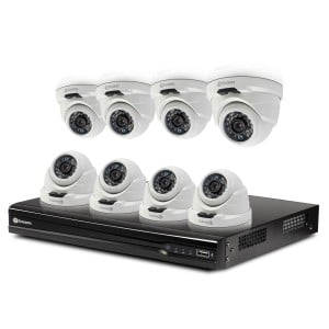 SONVK-167408D NVR16-7400 8 Channel 4MP Network Video Recorder & 8 x NHD-819 4MP Dome Cameras -