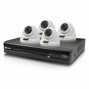SWNVK-874004D NVR8-7400 8 Channel 4MP Network Video Recorder & 4 x NHD-819 Dome 4MP Cameras -