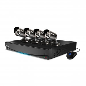 DVR4-3425 4 channel security system with 4 x pro-615 security cameras view 1