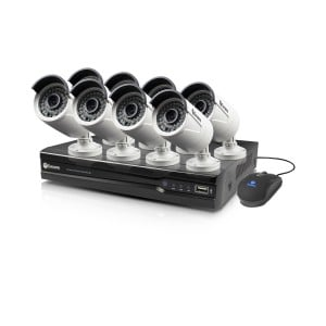 SWNVK-874008 NVR8-7400 8 Channel 4MP Network Video Recorder & 8 x NHD-818 4MP Cameras -