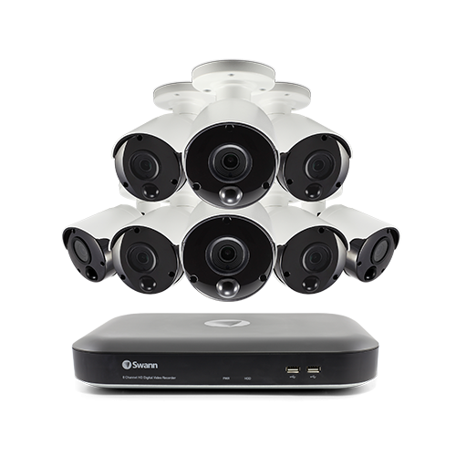 SWDVK-849808 8 Channel 8 Camera 5MP Super HD DVR Security System   -