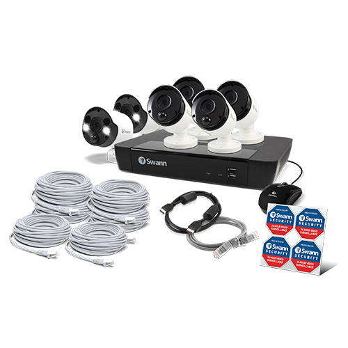 SWNVK-875804B2FB 6 Camera 8 Channel 5MP Super HD NVR Security System  -