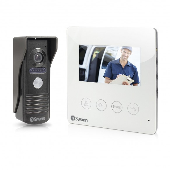 "SWHOM-DP875C Doorphone Video Intercom With Colour 4.3"" LCD Monitor -"