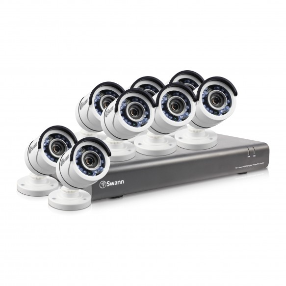 SODVK-164558 DVR16-4550 16 Channel 1080p Digital Video Recorder with 8 x PRO-T853 Cameras -