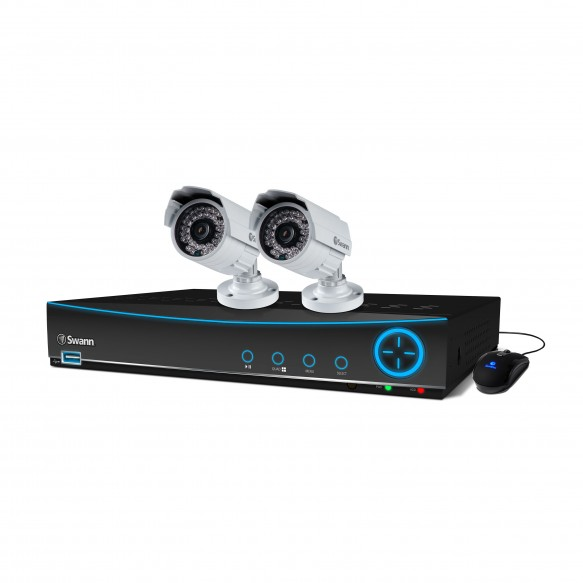 SWDVK-441502 DVR4-4150 4 Channel 960H Digital Video Recorder with 2 x PRO-842 Cameras -