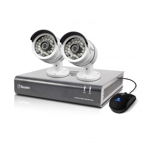 SWDVK-446002 DVR4-4600 - 4 Channel 1080p Digital Video Recorder & 2 x PRO-A855 Cameras -