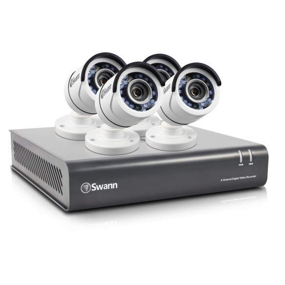 SWDVK-845504 DVR8-4550 - 8 Channel 1080p HD Digital Video Recorder & 4 x PRO-T853 Cameras -