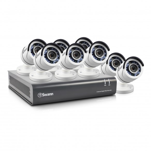 SWDVK-845508 DVR8-4550 - 8 Channel 1080p HD Digital Video Recorder & 8 x PRO-T853 Cameras -