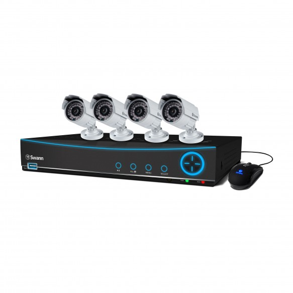 SWDVK-841504 DVR8-4150 8 Channel 960H Digital Video Recorder with 4 x PRO-842 Cameras -