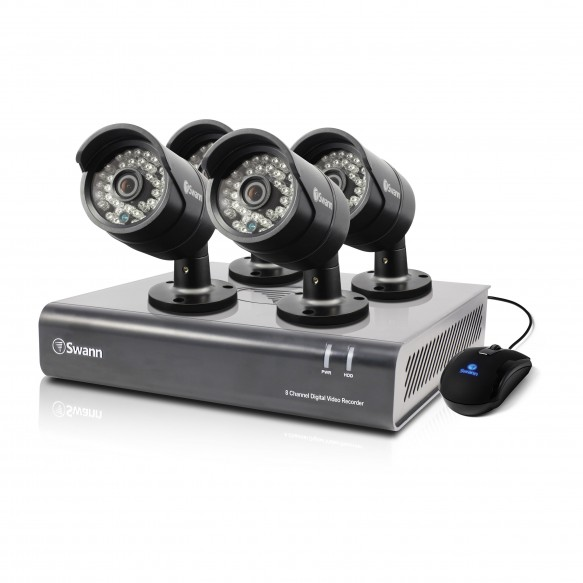 SWDVK-844004 DVR8-4400 - 8 Channel 720p Digital Video Recorder & 4 x PRO-A850 Cameras -