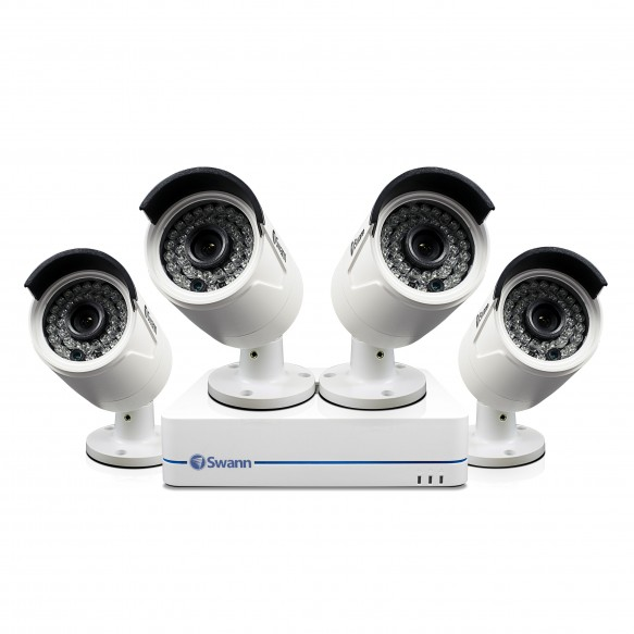 SWNVK-872854 NVR8-7285 8 Channel 1080p Network Video Recorder & 4 x NHD-810 Cameras -