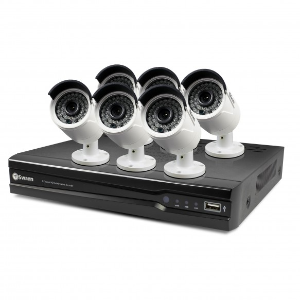 SONVK-874006 NVR8-7400 8 Channel 4MP Network Video Recorder & 6 x NHD-818 4MP Cameras -