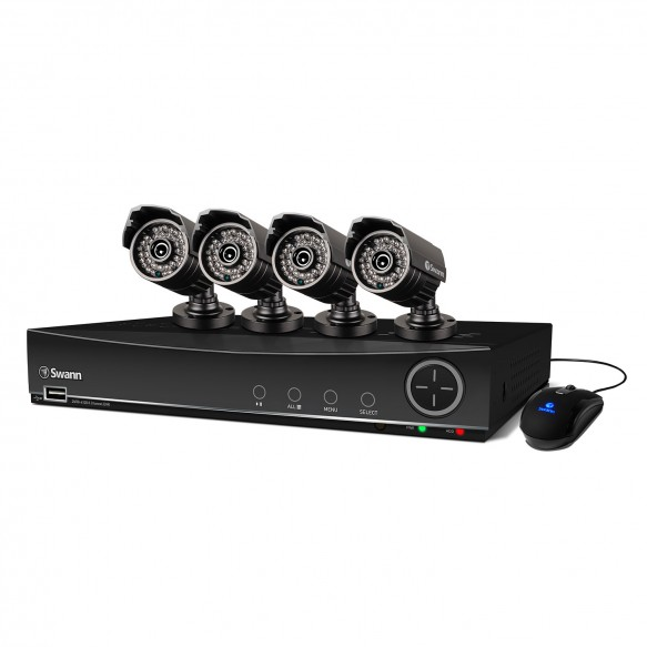 SWDVK-841004 DVR8-4100 8 Channel 960H Digital Video Recorder & 4 x PRO-735 Cameras -