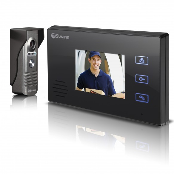 "SWHOM-DP870C Doorphone Video Intercom With Colour 3.5"" LCD Monitor -"